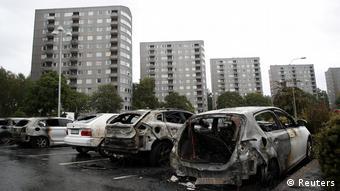 Gothenburg, ausgebrannte Autos