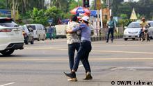 Bangladesch Illegale Straßenkreuzung
