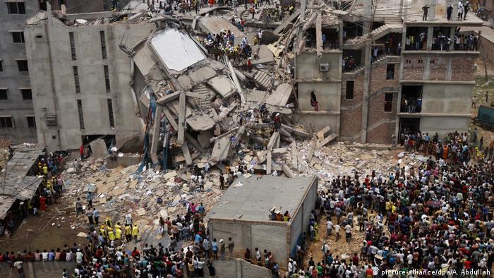 El edificio colapsado de Rana Plaza (Foto: picture-alliance)