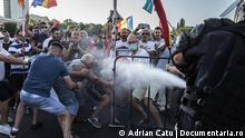 ++++ ACHTUNG: Foto nicht mehr verwenden! Bitte von Robert Schwartz/BN/DWD T: 6864 +++++ DW-Korrespondent Cristian Stefanescu, der aus der rumänischen Hauptstadt Bukarest für den deutschen Auslandssender berichtet, ist bei einem Einsatz der rumänischen Polizei gegen Demonstranten am vergangenen Freitag, 10. August, von Polizisten angegriffen worden