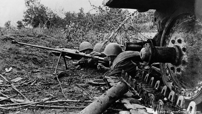 Во время одного из боев на Курской дуге