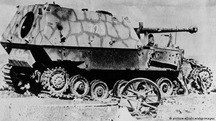Подбитая немецкая самоходная артиллерийская установка Фердинанд