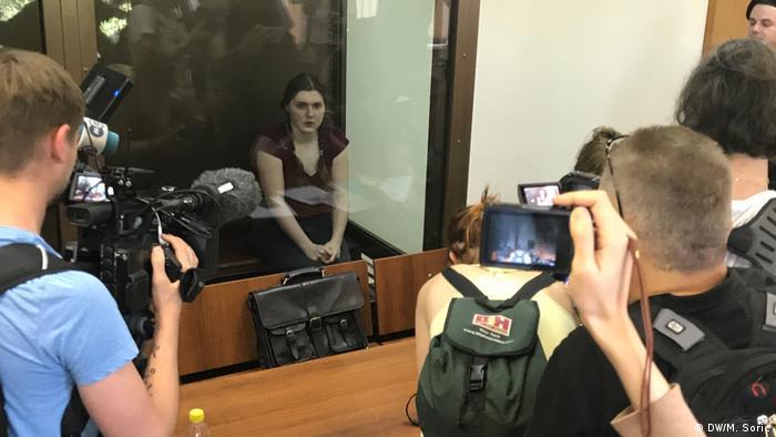 Анна Павликова в зале суда, 14 августа 2018 года