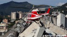 Italien A10 Autobahnbrücke Morandi in Genua eingestürzt