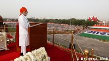 15.08.2018+++ Indian Prime Minister Narendra Modi addresses the nation during Independence Day celebrations at the historic Red Fort in Delhi, India, August 15, 2018. REUTERS/Adnan Abidi