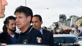 Ο Ιταλός πρωθυπουργός Τζουζέπε Κόντε στη Γένοβα