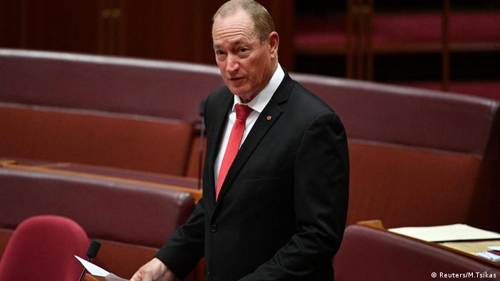 Australian Senator Fraser Anning (Reuters/M.Tsikas)