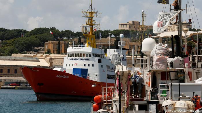 Aquarius заходит в порт Валетты