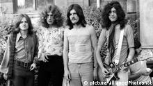 LED ZEPPELIN PERFORMING LIVE ON STAGE AT THEIR FIRST OUTDOOR SHOW AT THE BATH BLUES FESTIVAL SAT 28TH JUNE 1969 /LF- |