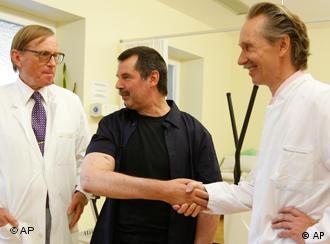 Karl Merk with doctors