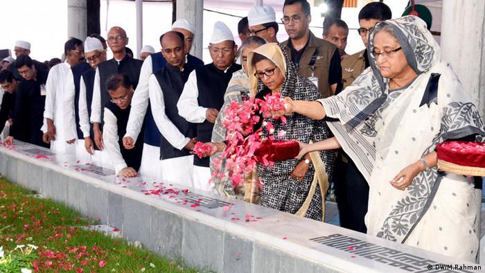 Hommage an Bangabandhu Sheikh Mujibur Rahman, Gründungsvater von Bangladesch (DW/M.Rahman)