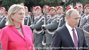Карин Кнайсль и Владимир Путин. Вена, июнь 2018 года