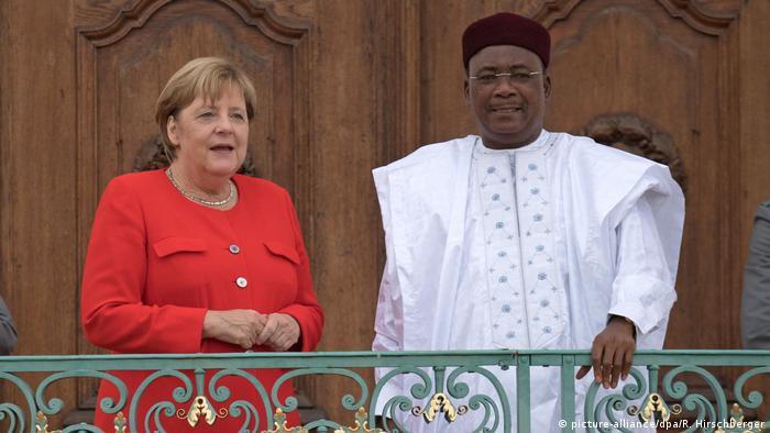 Angela Merkel e Mahamadou Issoufou, em Berlim