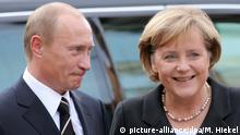 Deutschland Merkel und Putin in Dresden - Begrüßung