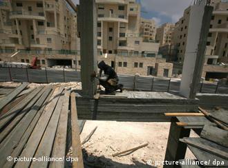 Palästinensischer Arbeiter in der Siedlung Har Homa in Ostjerusalem (Foto: dpa)