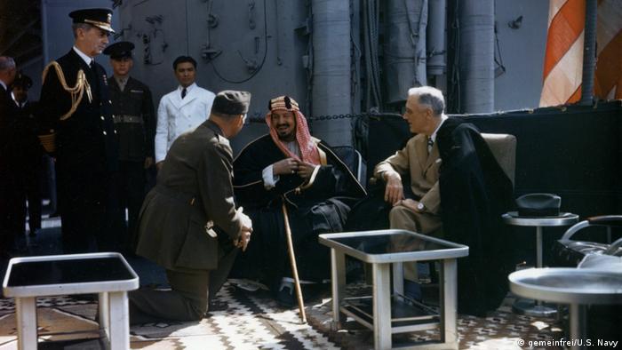 Президент Рузвельт и король Ибн Сауд