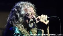 British singer and former Led Zeppelin group member Robert Plant performs during his concert with The Sensational Space Shifters band in Brno, Czech Republic, Thursday, July 23, 2015. (Vaclav Salek, CTK via AP) SLOVAKIA OUT |