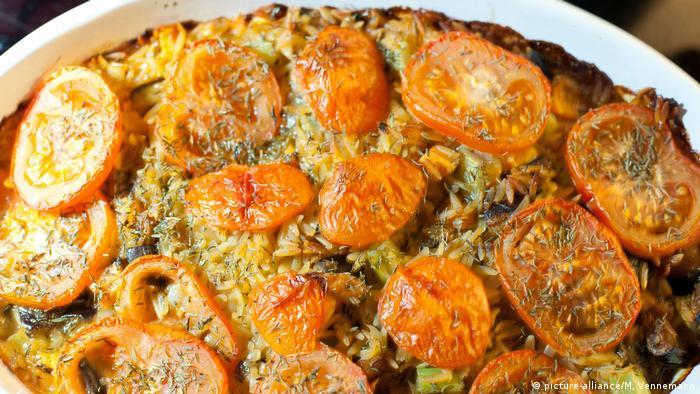 Запеканка из риса с овощами