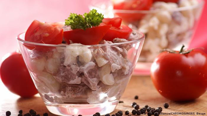 Салат из пасты