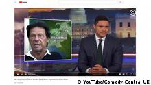 YouTube Screenshot - Daily Show mit Trevor Noah über Imran Khan (YouTube/Comedy Central UK)