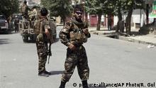 Afghanistan Kabul Sicherheitskräfte nach Anschlag