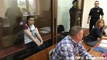 Anna Pawlikowa in einem Gericht in Moskau