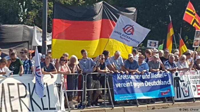 Deutschland Dresden Anti-Merkel Demonstration