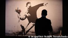 Russland Banksy Ausstellung in Moskau