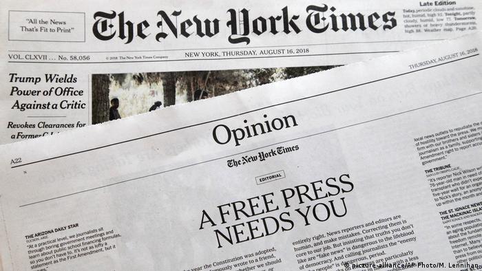 Uma imprensa livre precisa de você, diz editorial do 'The New York Times'