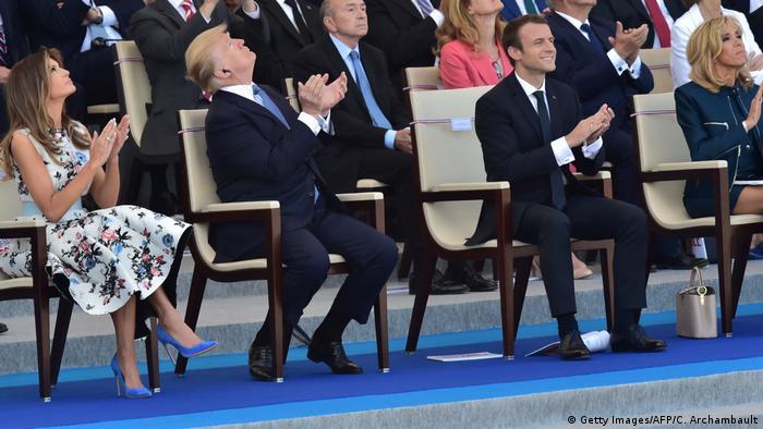 Frankreich Nationalfeiertag 2017 | Emmanuel Macron & Donald Trump in Paris (Getty Images/AFP/C. Archambault)