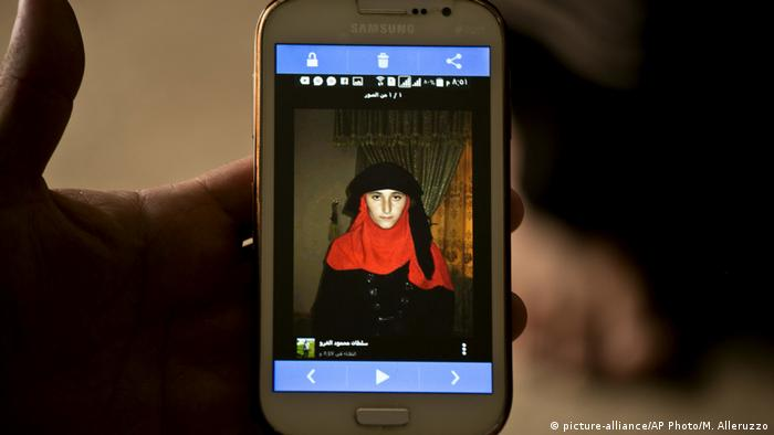 The photo of a Yazidi girl uploaded to a database used by the Islamic State to keep track of enslaved women