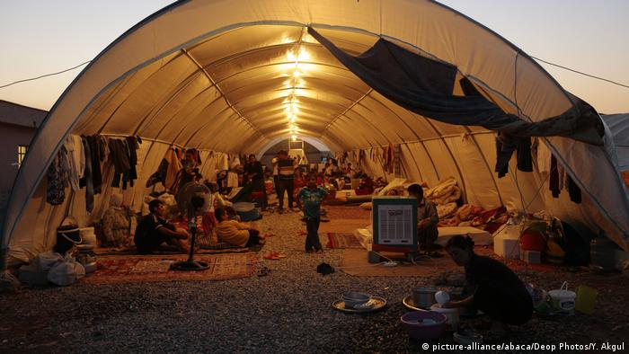 A Yazidi refugee camp in Turkey