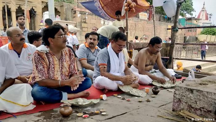 Indien Varanasi Protest