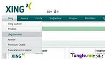 Screenshot XING türkisch DW