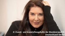 Performance-Künstlerin Marina Abramovic in der Bundeskunsthalle Bonn