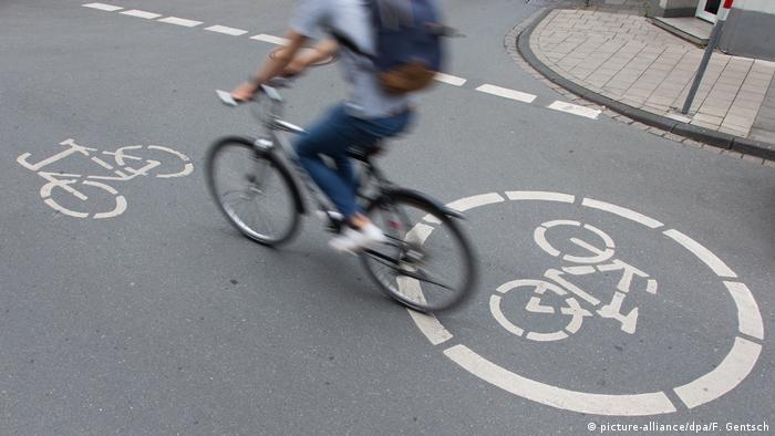 Велосипедист в Германии