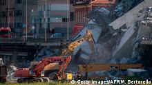 Italien Genua | Einsturz Autobahnbrücke Morandi | Rettungsarbeiten