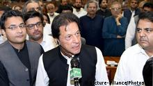 Pakistani PM Imran Khan in parliament