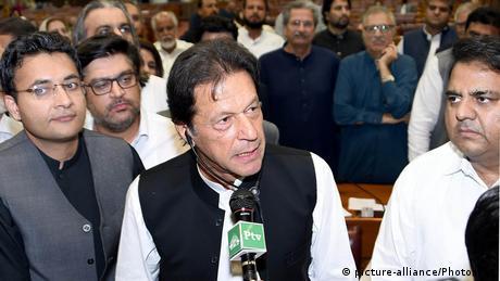 Pakistani PM Imran Khan in parliament