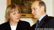 Russland - CDU-Vorsitzende Merkel bei russischem Präsidenten Putin in Moskau 2002