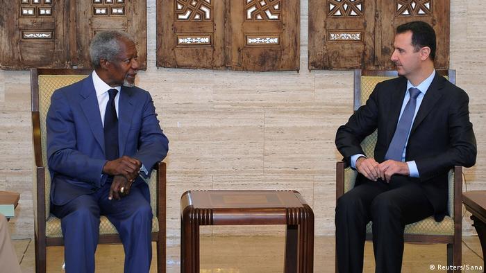 Syrien - Präsident al-Assad trifft Kofi Annan in Damaskus (Reuters/Sana)