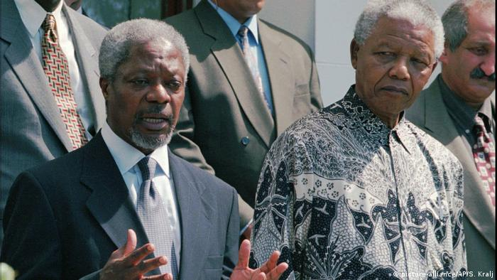 Angola - Nelson Mandela und Kofi Annan