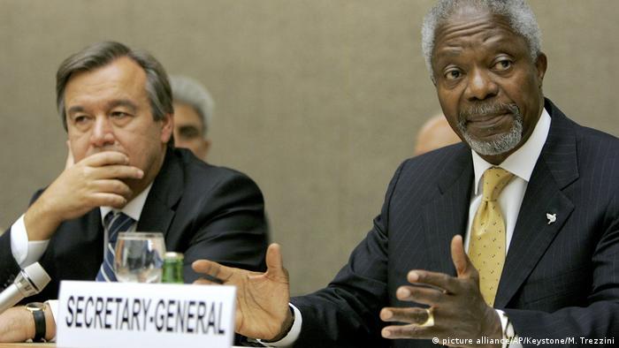 Schweiz UNHCR - Guterres und Annan