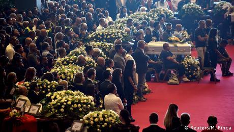 У Генуї відбулася жалобна церемонія за загиблими внаслідок обвалу мосту