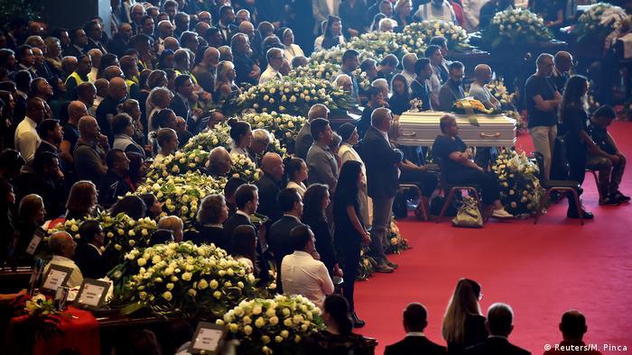 Funeral de Estado, en Génova.