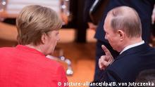 G20-Gipfel in Hamburg Merkel und Putin