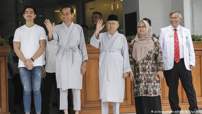 Indonesien Präsidentschaftswahl Joko Widodo und Ma'ruf Amin