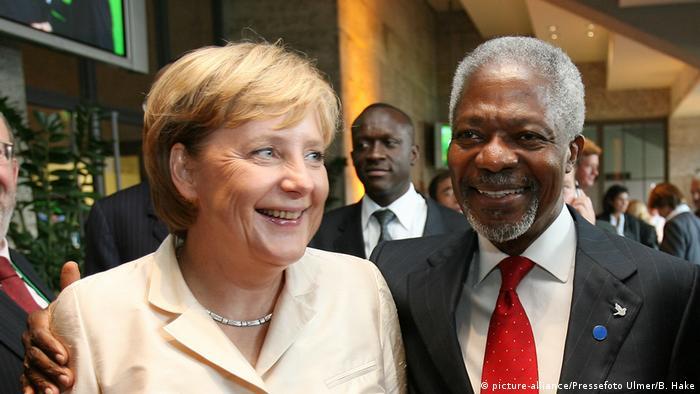 Kofi Annan und Angela Merkel