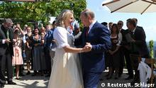 Putin dances with Austrian Foreign Minister Karin Kneissl at her wedding.