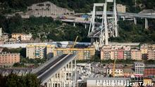 The collapsed Morandi-bridge in Genoa